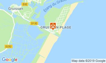Mapa Gruissan-Plage Chalé 102261