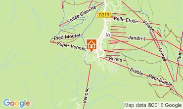Mapa Les 2 Alpes Apartamentos 28328