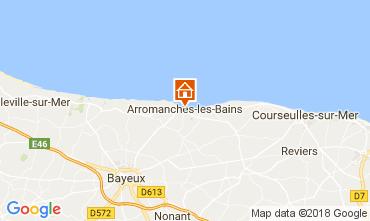 Mapa Arromanches Casa de turismo rural/Casa de campo 113148