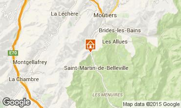 Mapa Saint Martin de Belleville Chalé 98698