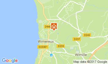 Mapa Wimereux Casa de turismo rural/Casa de campo 109892