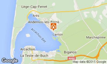 Mapa Andernos les Bains Casa de turismo rural/Casa de campo 80951