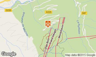 Mapa Montchavin les Coches Apartamentos 27357