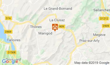 Mapa Manigod-Croix Fry/L'étale-Merdassier Apartamentos 116760