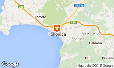 Mapa Follonica Apartamentos 80818
