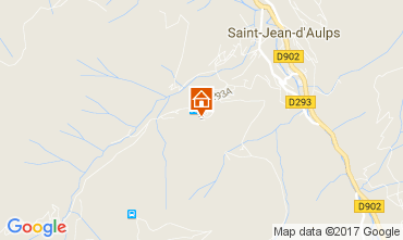 Mapa Saint Jean d'Aulps- La Grande Terche Apartamentos 50553
