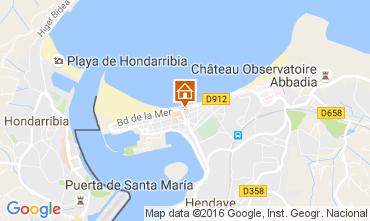 Mapa Hendaye Apartamentos 107303