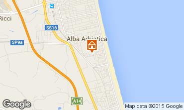 Mapa Alba Adriatica Apartamentos 64221