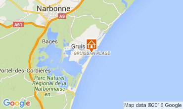 Mapa Gruissan-Plage Chalé 105028