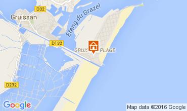 Mapa Gruissan-Plage Chal� 105028
