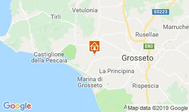 Mapa Castiglione della Pescaia Apartamentos 94322