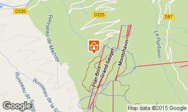 Mapa Montchavin les Coches Chal� 99653