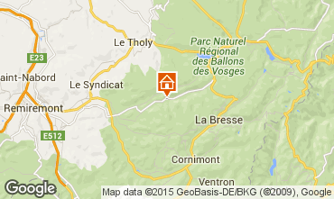 Mapa Gérardmer Chalé 74651