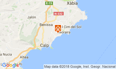 Mapa Moraira Casa 114144
