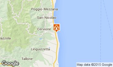 Mapa Moriani Plage Estúdio 71854