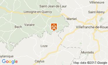 Mapa Saint-Cirq-Lapopie Casa de turismo rural/Casa de campo 51135