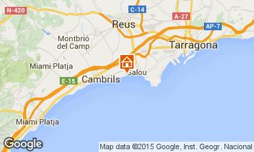 Mapa Cambrils Apartamentos 78295