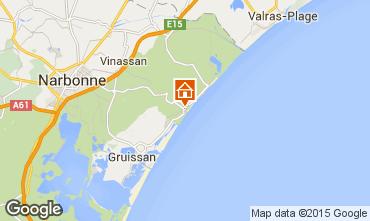 Mapa Narbonne praia Vivenda 81296