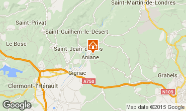 Mapa Saint Guilhem le Désert Vivenda 30945
