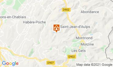 Mapa Bellevaux Hirmentaz La Chèvrerie Estúdio 56981