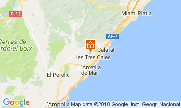 Mapa La Ametlla de Mar Casa 39451
