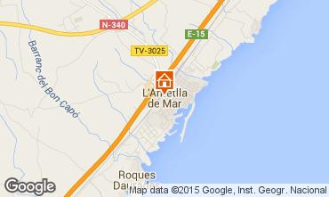 Mapa La Ametlla de Mar Vivenda 53559