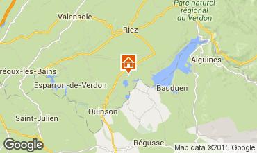 Mapa Sainte-Croix-du-Verdon Apartamentos 83052