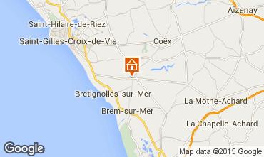 Mapa Bretignolles sur mer Casa 85847