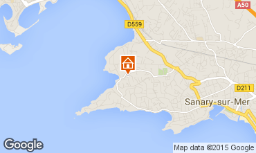 Mapa Sanary Apartamentos 79595