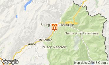 Mapa Bourg saint Maurice Quarto de h�spedes ins�lito 100345