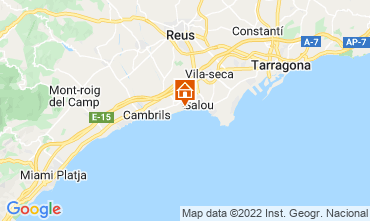 Mapa Cambrils Apartamentos 114023