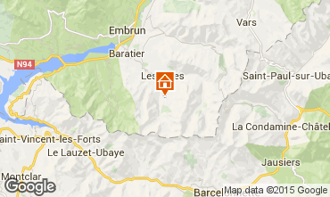 Mapa Les Orres Apartamentos 16957