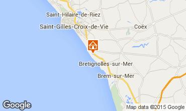 Mapa Bretignolles sur mer Casa 21946