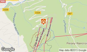 Mapa Montchavin les Coches Apartamentos 100294