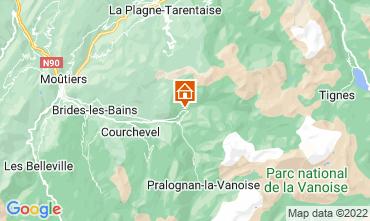 Mapa Champagny en Vanoise Est�dio 30023