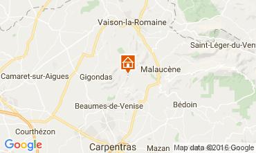 Mapa Vaison la Romaine Casa de turismo rural/Casa de campo 95444
