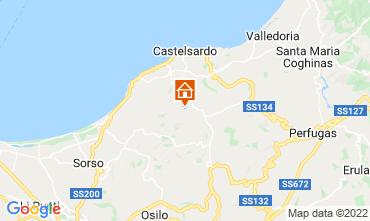 Mapa Castelsardo Casa 86630