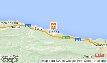 Mapa Llanes Apartamentos 98765