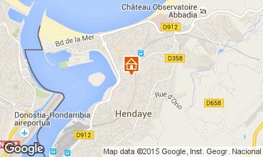 Mapa Hendaye Apartamentos 82539