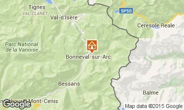 Mapa Bonneval sur Arc Apartamentos 488