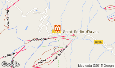 Mapa Saint Sorlin d'Arves Estúdio 81448
