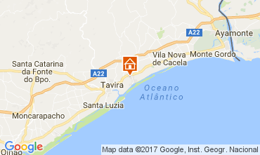 Mapa Tavira Apartamentos 108676
