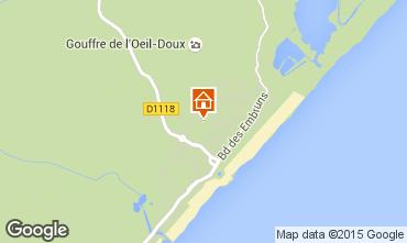 Mapa Saint Pierre la Mer Apartamentos 77007