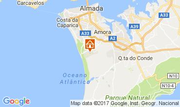Mapa Costa de Caparica Apartamentos 109987