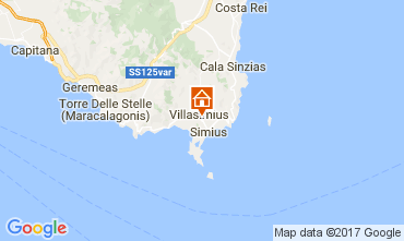 Mapa Villasimius Apartamentos 109007
