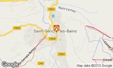Mapa Saint Gervais Mont-Blanc Estúdio 2586