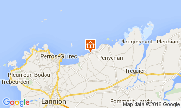 Mapa Perros-Guirec Apartamentos 102506