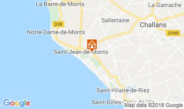 Mapa Saint Jean de Monts Mobil Home 116908