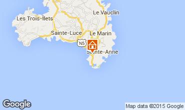 Mapa Sainte Anne (Martinique) Apartamentos 58877