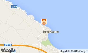 Mapa Torre Canne Apartamentos 84301